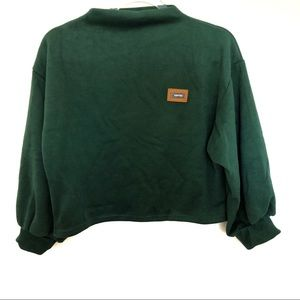 Besr Arctic Green Cropped Sweater Size M